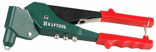 """Заклепочник Kraftool """"RX-360"""" поворотный 360°, для заклепок d=2,4 / 3,2 / 4,0 / 4,8 мм-алюминий и сталь, d=2,4/3,2/4,0, зеленый, красный"""