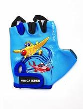 Велоперчатки детские Vinca sport VG 935 child plane blue