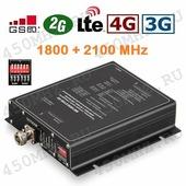 Репитер GSM 2G 3G 4G DCS 1800/2100 МГц регулируемый - усилитель сигнала телефона, смартфона и Интернета