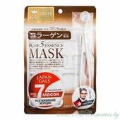 JAPAN GALS Pure 5 Essence Маска для лица, курс 7шт, с коллагеном | 7шт | Pure 5 Essence Mask, Collagen, 7P