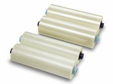 """Рулонная пленка для ламинирования, Глянцевая, 75 мкм, 350 мм, 1000 м, 3"""" (77 мм)"""