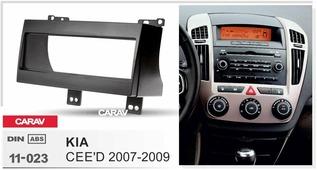 Переходная рамка для установки магнитолы CARAV 11-023 - KIA CEE'D 2007-2009 (1-DIN)