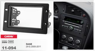 Переходная рамка для установки магнитолы CARAV 11-094 - SAAB (9-5) 2005-2011