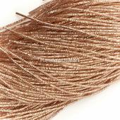 Канитель трунцал, Розовое Золото, 1,5 мм