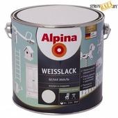 Эмаль алкидная Alpina Weisslack белая шелковисто-матовая 2,5 л / 3,15 кг