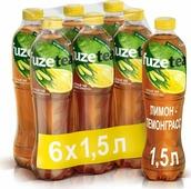 Холодный чай Fuzetea Лимон-лемонграсс, черный, 6 шт по 1,5 л