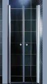 Стеклянная душевая дверь Coliseum 7016-80 (тонированное стекло)