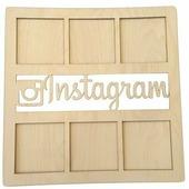 """Заготовка для декорирования Decoriton """"Рамка Instagram"""", 37 х 0,6 х 37 см"""