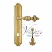 Дверная ручка на планке Venezia Lucrecia PL98 полированная латунь wc-4