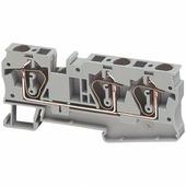Клеммные соединения Клеммник винтовой проходной, сечением провода 6мм2, 3 точки подключения, серый Schneider Electric