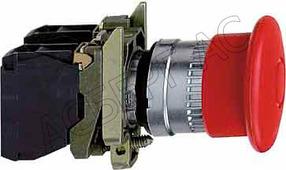 Лампы, кнопки, звонки, переключатели Schneider Electric Кнопка аварийного останова грибовидная 22мм Schneider Electric, XB4BT845