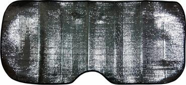 "Шторка солнцезащитная ""Rexxon"", на лобовое стекло, цвет: серый металлик, 130 х 60 см"