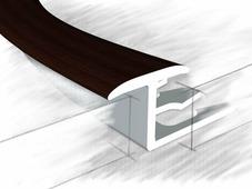 Z профиль для плитки и ламината венге