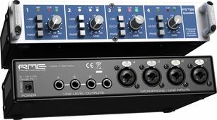 """RME QuadMic II - 4 канальный микрофонный предусилитель 9 1/2"""", 1HU"""