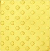 Тактильная плитка 300х300х8.7 Резиновая - круглое (пятачковое / монеточное) рифление