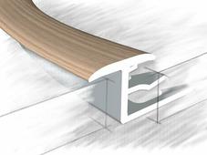 Z профиль для плитки и ламината дуб беленый