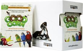 "GOOD CORN Фруктовый Мультивитаминный комплекс для птиц ""фруктовая корзина"" 15 таб. x 5 шт"