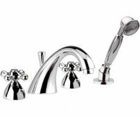 Смеситель для ванны, бронза, Daniel Rubinetterie REVIVAL DECORA SPIRAL (V4192YC90)