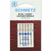 Набор игл кожа SCHMETZ LEDER LEATHER CUIR №90 (5 шт.)