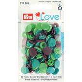 Кнопки Color Snaps пластик 30 шт разноцветные Prym Love 393005