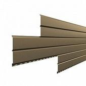 Сайдинг наружный металлический МеталлПрофиль Lбрус Ephyra Золотой металлик 2м (Colorcoat Prisma, 0,5мм, глянец.)