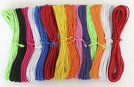Шнур эластичный, цвет: ассорти, 1,5 мм, 5,5 м, 14 штук, арт. 0370-0301
