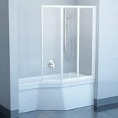 Шторка на ванну Ravak VS3 130 полистирол white+Rain