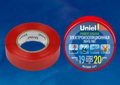 Изолента Uniel UIT-135P 20/19/01 RED