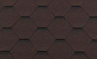 Гибкая битумная черепица RoofShield Стандарт Family Коричневый с оттенением