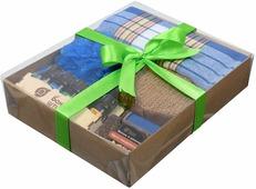 """Подарочный набор Банные штучки """"Синий"""", для мужчин, 41290, 5 предметов"""