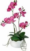 """Декоративные цветы в вазе Dream Garden """"Орхидея бордо"""", 30 х 17 х 42 см"""