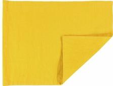 Салфетка столовая Tkano Essential, TK18-PM0011, двухсторонняя, с декоративной обработкой, горчичный, 35 x 45 см