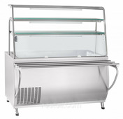 Прилавок-витрина холодильный ABAT «Премьер» ПВВ(Н)-70Т-01-НШ