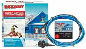 Греющий саморегулирующийся кабель Rexant 15MSR-PB, на трубу, 2 м, 30 Вт