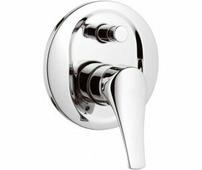 Смеситель для ванны встраиваемый с переключателем, золото, Daniel Rubinetterie RIO (R6612DO)