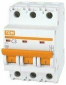 TDM автоматический выкл. ВА47-63 3P 10А 4,5кА х-ка С SQ0218-0018
