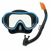 Комплект TUSA SPORT UCR0101 маска+трубка 2 клапана (Синий)