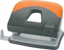 """Дырокол """"Centrum"""", на 25 листов, цвет: серый, оранжевый. 82047"""