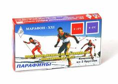 Парафин лыжный комп 2 бруска (красно-фиолетовый)