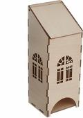 """Деревянная заготовка Астра """"Чайный домик"""", c пологой крышей, 23 х 9 х 8 см"""