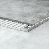 Уголок для плитки L образный из нержавеющей стали шлифованный 10мм 270 см