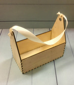 Ящик деревянный с лентой 15*8*13см