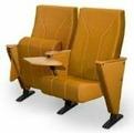 Нимбус / ДЛ-2000 (спинка в ткани, деревянный подлокотник со столиком пюпитр, убирающемся внутрь стойки)