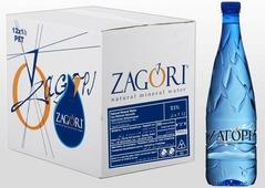 Zagori Вода природная минеральная столовая негазированная, 12 шт по 1 л PET