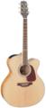 TAKAMINE G70 SERIES GJ72CE-NAT электроакустическая гитара типа Jumbo, цвет натуральный, топ - массив ели, нижняя дека и обечайка - огненный клен, гриф - клен, накладка грифа - палисандр с кантом, преамп TK-40D со встроенным тюнером