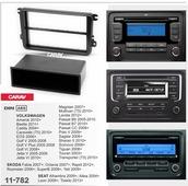 Переходная рамка для установки магнитолы CARAV 11-782 - VW Caddy 2004+; Golf VI/V, Passat B6/B7, T5