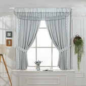 Комплект штор ТД Текстиль Lace 1, 27006, серый