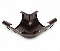 Угол водосточного желоба Galeco PVC 150/100 внешний, 90 град, Коричневый