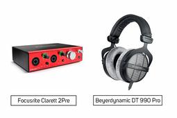 Focusrite Clarett 2Pre + Beyerdynamic DT 990 Pro