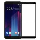 Противоударное защитное стекло на весь экран Full Screen Cover черное HTC Desire 12 Plus